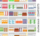 various pills and drugs for... | Shutterstock .eps vector #226491073
