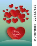 red hearts paper valentines day ... | Shutterstock .eps vector #226537693