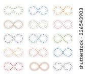 set of infinity symbols  vector ... | Shutterstock .eps vector #226543903
