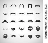 mustache and beard icons set  ... | Shutterstock .eps vector #226553563