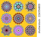 circle lace ornament  round... | Shutterstock . vector #226556803