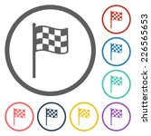 racing flag icon | Shutterstock .eps vector #226565653