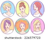 set of hand drawn sketchy... | Shutterstock .eps vector #226579723