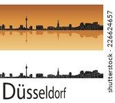 dusseldorf skyline in orange... | Shutterstock .eps vector #226624657