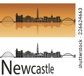 Newcastle Skyline In Orange...