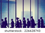 silhouette group of people... | Shutterstock . vector #226628743