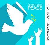 Peace Dove. Vector Illustration