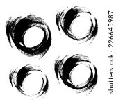 hand drawn grunge round strokes ... | Shutterstock .eps vector #226645987