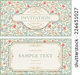 set of vintage greeting cards ...   Shutterstock .eps vector #226651027