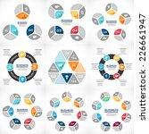 vector circle infographics set. ... | Shutterstock .eps vector #226661947