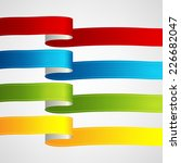 vector ribbons set | Shutterstock .eps vector #226682047