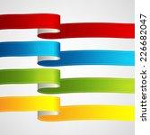 vector ribbons set | Shutterstock .eps vector #226682047