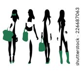 fashion silhouettes | Shutterstock .eps vector #226687063