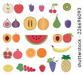 fruit icons set 1 | Shutterstock .eps vector #226696093