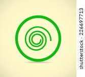 sign spin cycle  web icon. | Shutterstock . vector #226697713