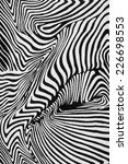 Small photo of texture of print fabric stripes zebra for background