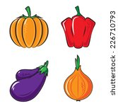 vegetables collection. bright... | Shutterstock .eps vector #226710793