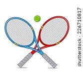 tennis racket isolated on white.... | Shutterstock .eps vector #226710817