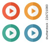 play button web icon   flat... | Shutterstock .eps vector #226721083
