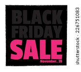 typography. black friday. sale. | Shutterstock .eps vector #226751083
