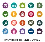 food and drinks color icons   Shutterstock .eps vector #226760413