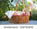 picnic basket  isolated on white   Shutterstock . vector #226762633