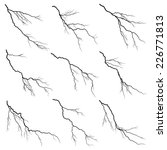 set of vector silhouettes... | Shutterstock .eps vector #226771813