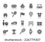 sport competition icons | Shutterstock .eps vector #226779307