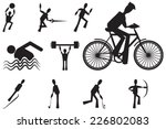a set of sport icons in black... | Shutterstock .eps vector #226802083