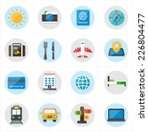 flat icons for travel icons and ... | Shutterstock .eps vector #226804477