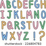 A Hand Drawn Alphabet Font In...