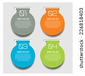 web banners with info graphics... | Shutterstock .eps vector #226818403