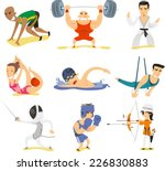 olympic sports illustrations  | Shutterstock .eps vector #226830883