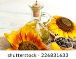 Постер, плакат: Sunflowers with oil and