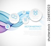 a wave of smoke infographics....   Shutterstock .eps vector #226853023