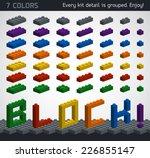 perfect set of 3d plastic parts.... | Shutterstock .eps vector #226855147