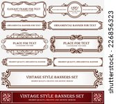 vintage style banners and... | Shutterstock .eps vector #226856323
