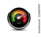 Illuminated Speedometer On A...