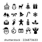 collection of christmas and... | Shutterstock .eps vector #226873633