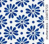 floral seamless pattern. blue... | Shutterstock .eps vector #226873723
