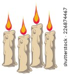 an illustration of four burning ... | Shutterstock .eps vector #226874467