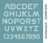 font set | Shutterstock .eps vector #226887643