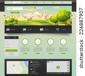 modern eco website template...   Shutterstock .eps vector #226887907