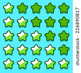 green game rating stars icons...
