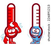 hot and cold cartoon... | Shutterstock .eps vector #226891213