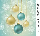 background with christmas balls.... | Shutterstock .eps vector #226898587
