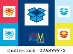 vector stickers with the... | Shutterstock .eps vector #226899973