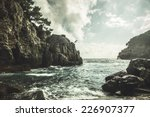 mediterranean rocky shores and...