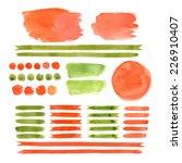 set of watercolor elements ...   Shutterstock .eps vector #226910407