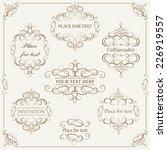 vector set  calligraphic design ... | Shutterstock .eps vector #226919557